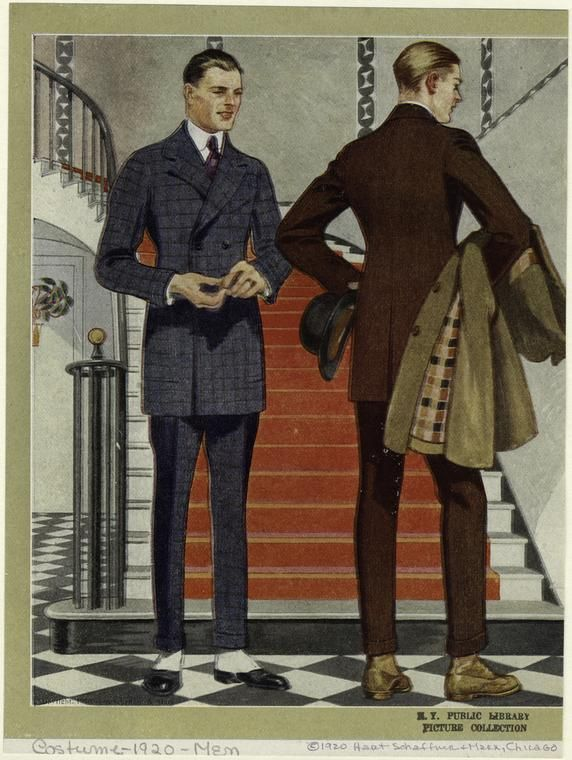 Today I have stylish mens fashion illustrations from an early 1920s garment catalog. I love the slim cuts and nipped waistlines of early 20s...
