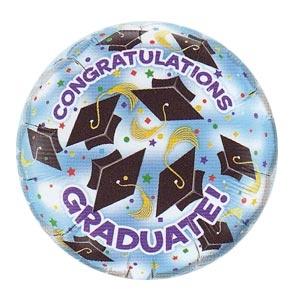"Congratulations Graduate! Caps 18"" Mylar Balloon"