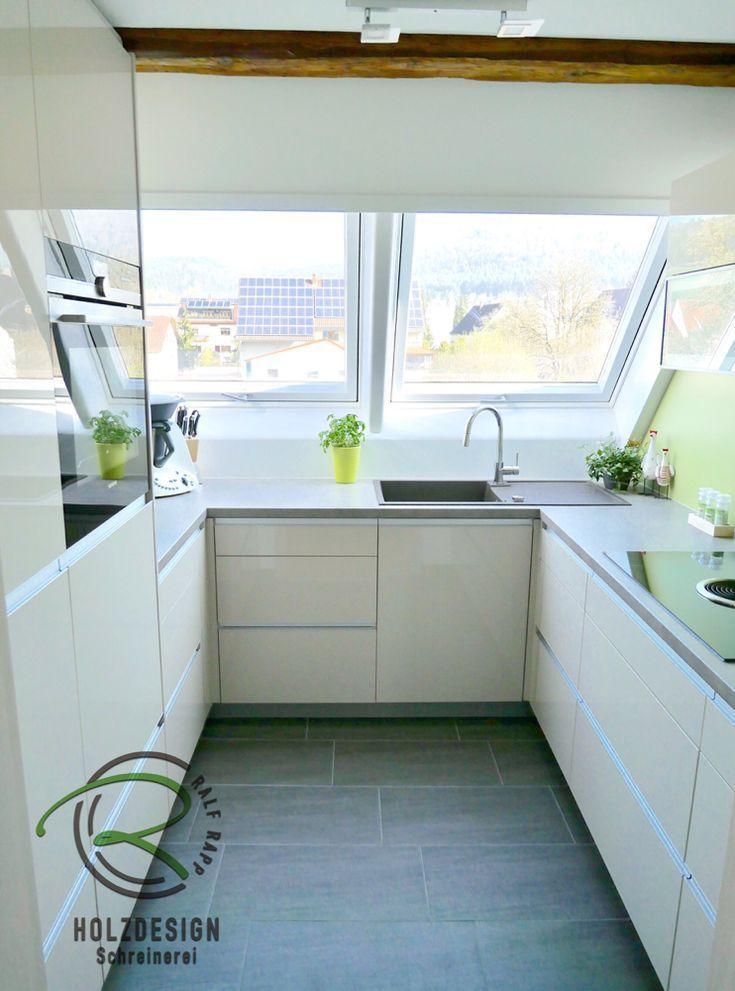 kleine küche im dachgeschoss  küche dachschräge küchen