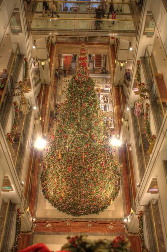 Fields Christmas shopping in Chicago (Store bought by Macys, but still Fields in the heart of Chicagoans.)