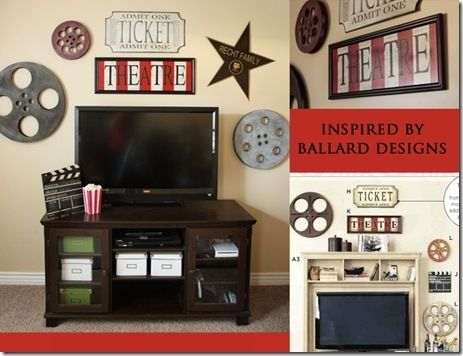 old film reels for corporate breakroom movie decor for home theater room - Theater Room Decor
