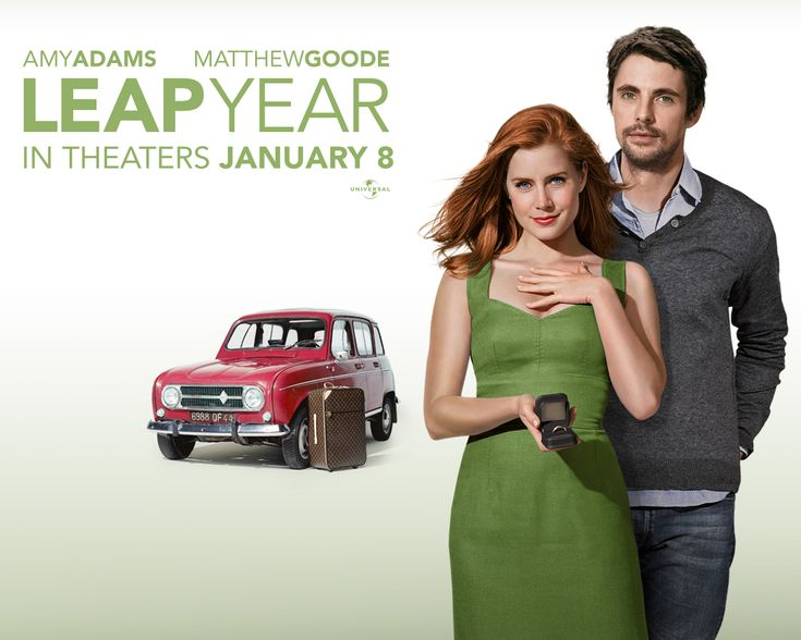 Leap Year (2010) Anna Brady plans to travel to Dublin, Ireland to propose marriage to her boyfriend Jeremy on Leap Day, because, according to Irish tradition, a man who receives a marriage proposal on a leap day must accept it.