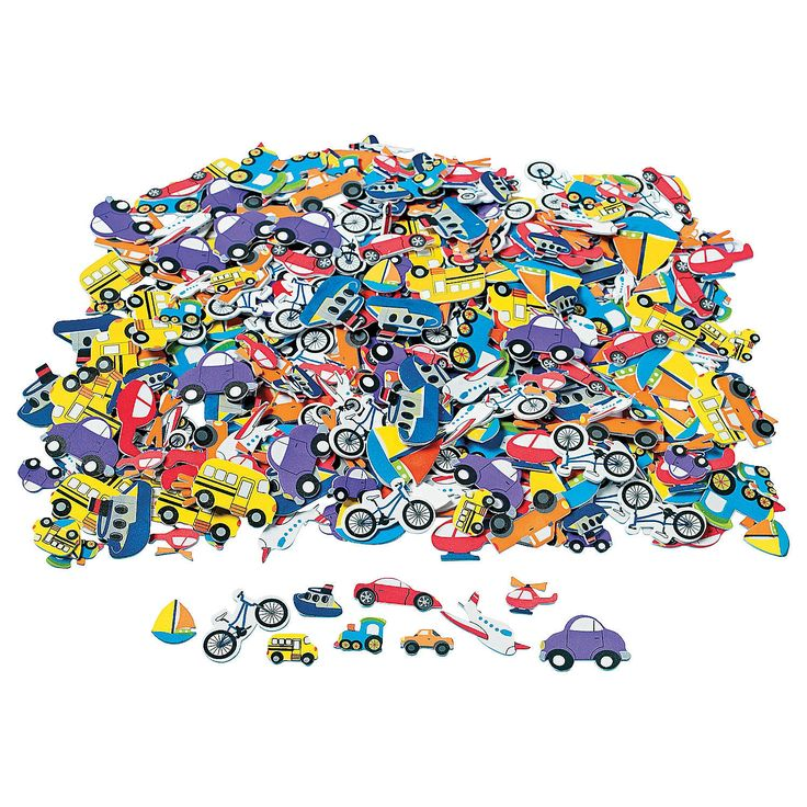 For Busy Bag projects   Fabulous Foam Self-Adhesive Transportation Shapes - OrientalTrading.com