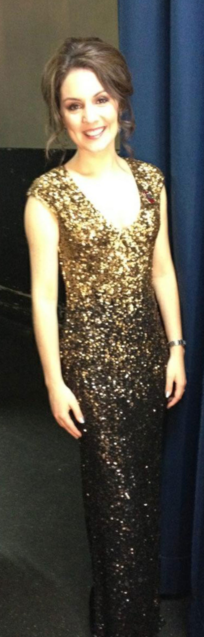 ITV Daybreak's weather presenter Laura Tobin wears Collection 8 Colette Dress to the Pride of Britain Awards, October 2012