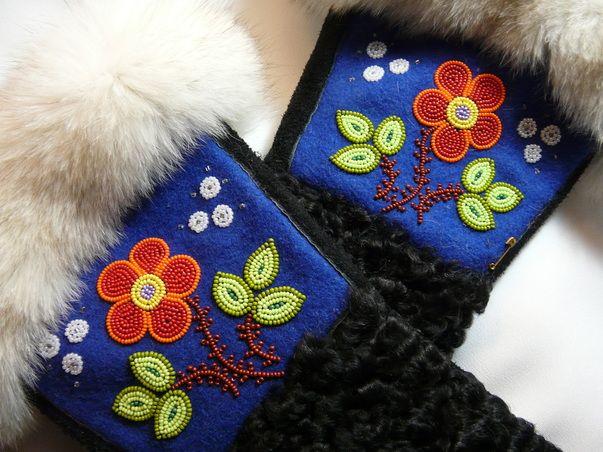 Picture   Gauntlet gloves, Beaded moccasins, Mitten gloves
