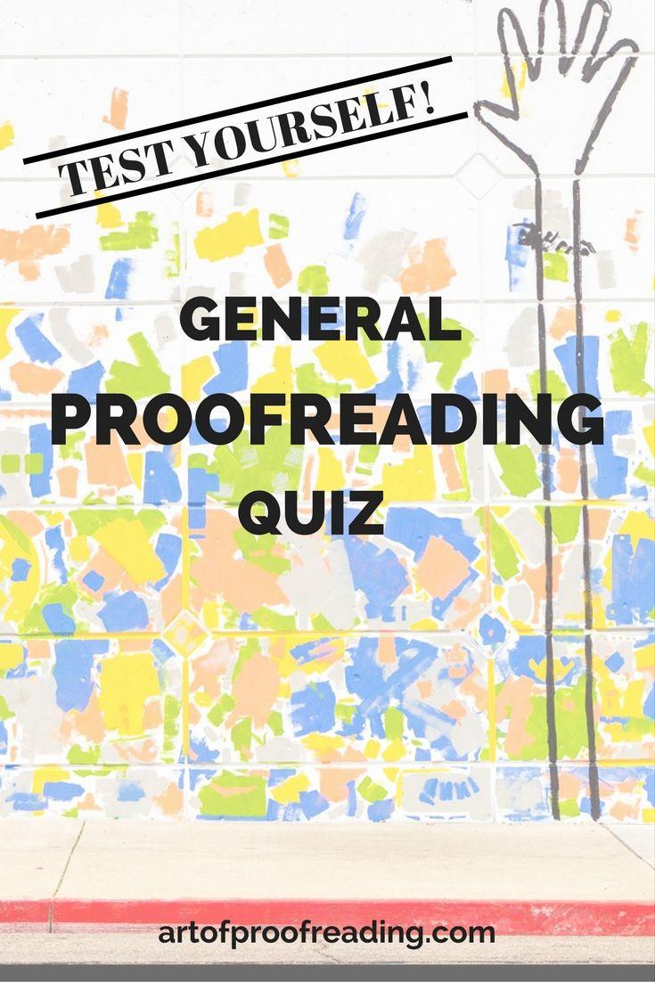 General proofreading quiz