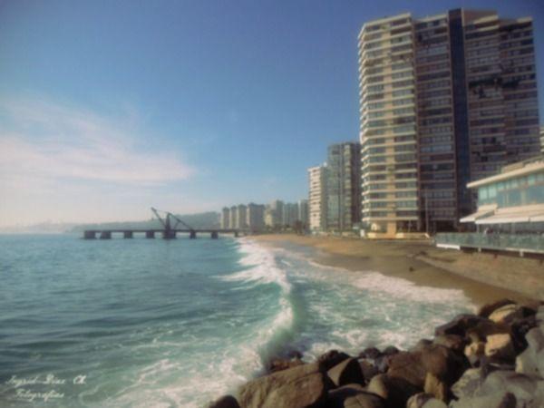 Playa Acapulco, Muelle Vergara. Viña del Mar.