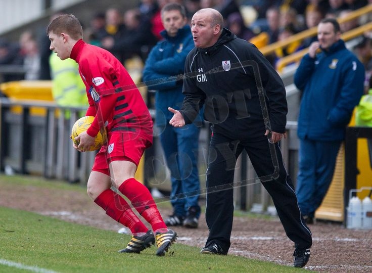 Queen's Park's coach Gus MacPherson during the SPFL League Two game between East Fife and Queen's Park.