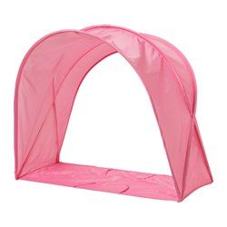 With this bed tent your child has their own cozy nook to sleep or read in. You can easily make the bed since the tent can be partially folded.