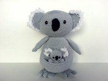 PDF Haakpatroon amigurumi: Koala moeder en baby