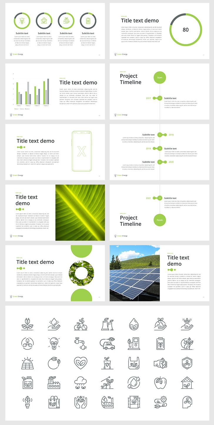 Green Energy – PowerPoint Template | Project proposal