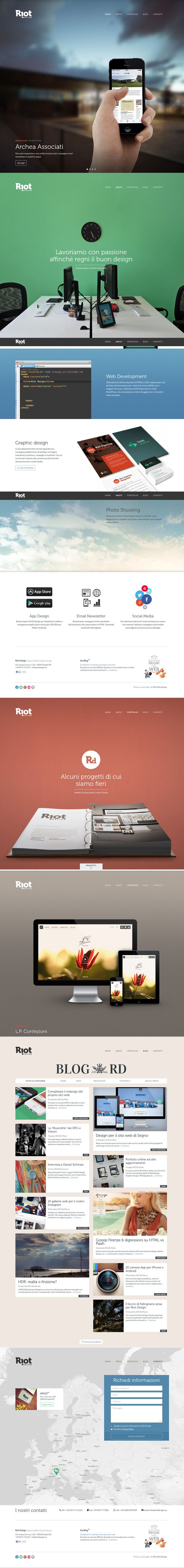 Winner 23 September Riot Design by Riot design http://www.cssdesignawards.com/css-web-design-award-winner.php?id=22895 Responsive portfolio website for our graphic and web design agency in Italy. #Responsive #Scroll #Colorful