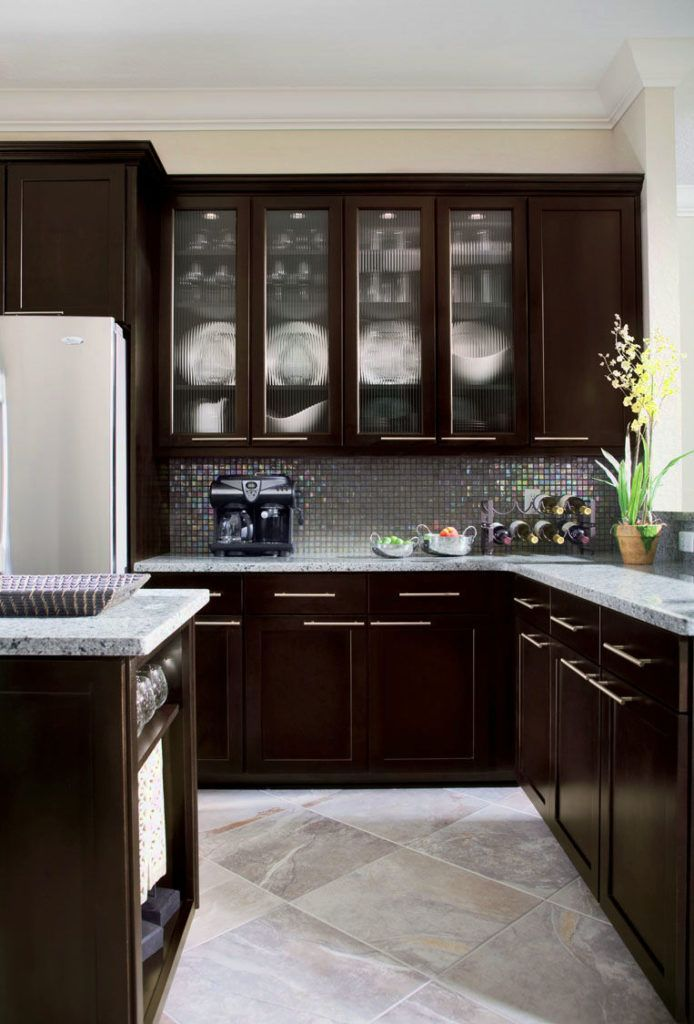 Kitchen Modern Espresso Kitchen Cabinets Pictures Ideas Tips From