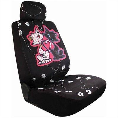 Set 2 Good Bad Cat Car Seat Cover
