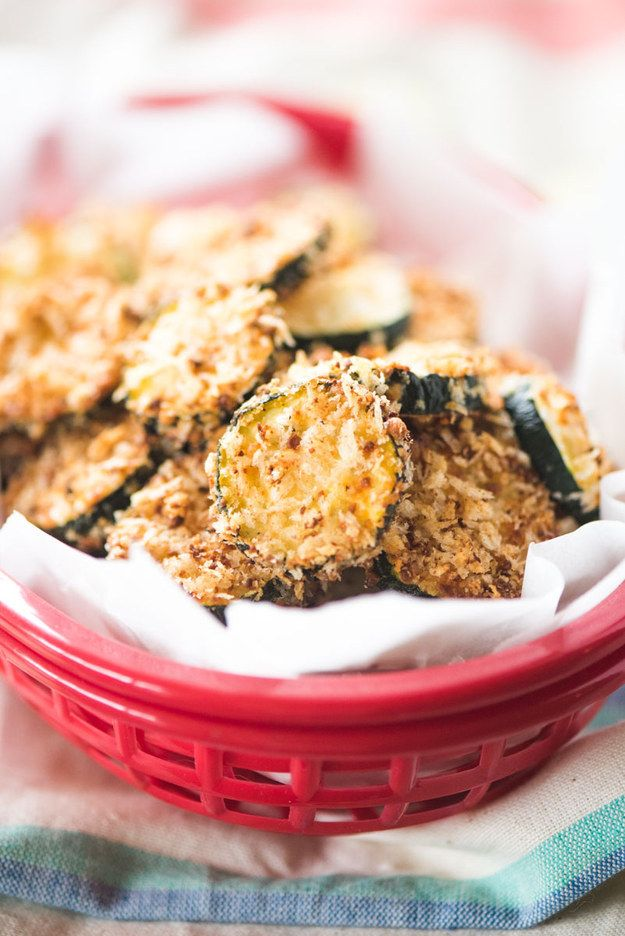 Baked Parmesan Zucchini Chips | 18 Delicious Homemade Chips That Are Actually Healthy