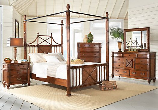 Panama Jack Island Breeze Canopy Bed Tropical British Colonial And West Indies Style
