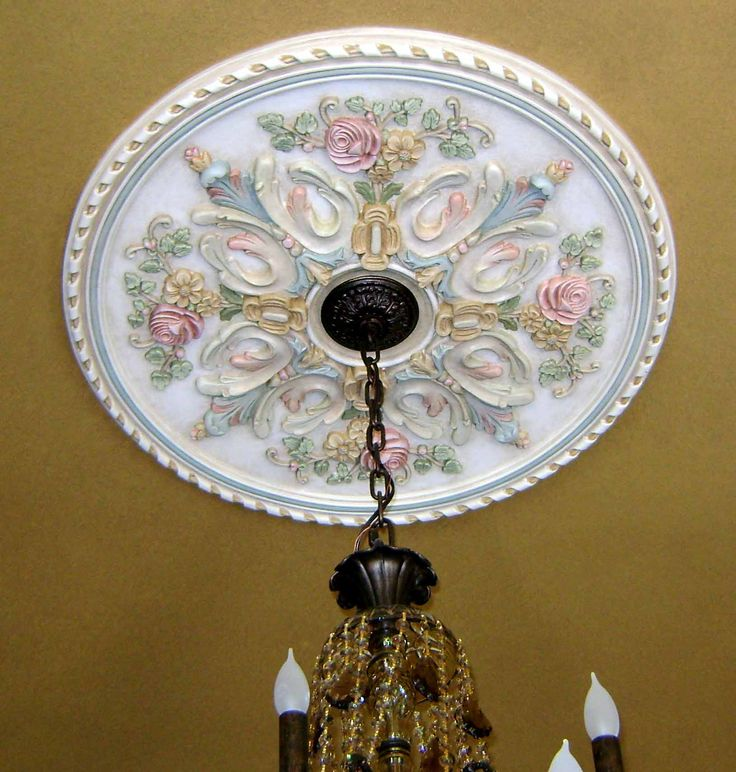 Painted Ceiling Medallion By Jeff Huckaby