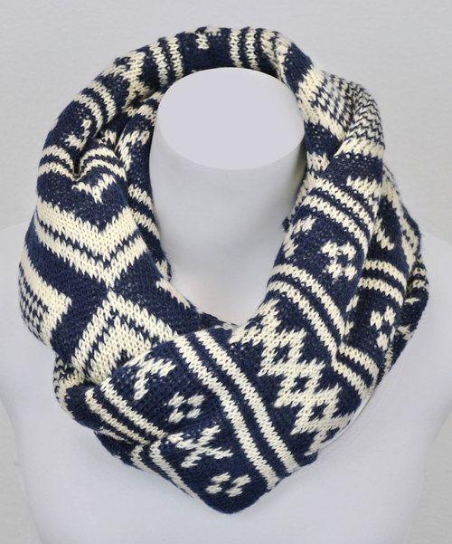 Cozy winter infinity scarf.