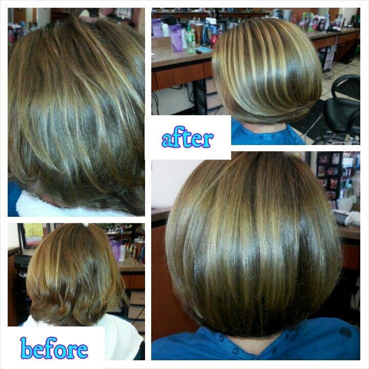 1st olaplex treatment olaplex before and after pinterest for Halo salon vancouver