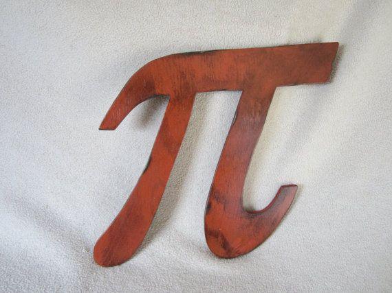Wooden Pi Symbol in Pine, Wood Sign, Wall Decor, Nerd, Geek Chic, Wedding, Photo Prop, Nursery, Kids Decor, Math, School, Teacher, Classroom on Etsy, $20.00