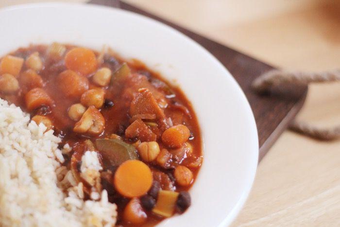 Overheerlijke vegetarische stoofpot
