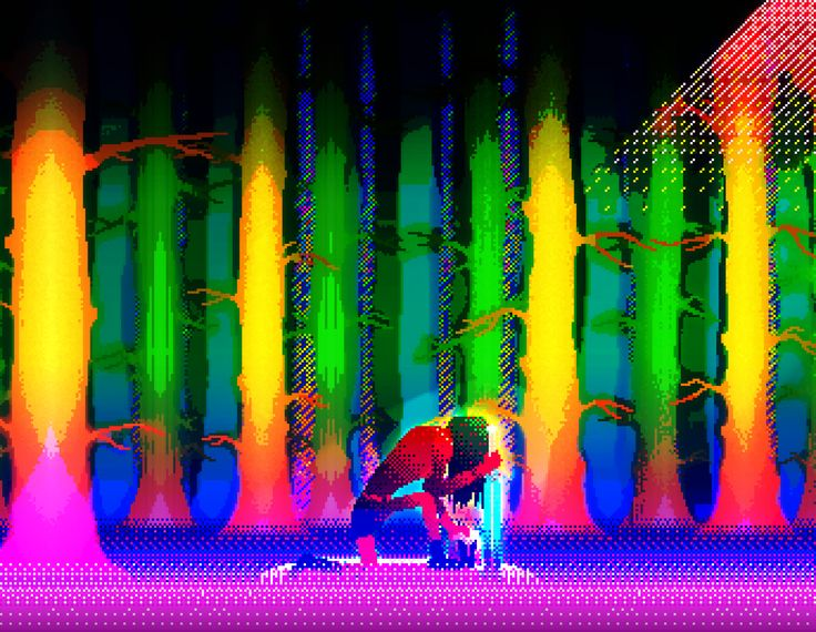 Iterate Forest | Barnaby Reilly Williams | Bachelor of Design (Games) #RMIT #CreativeFest forest pixel art rainbow digital game