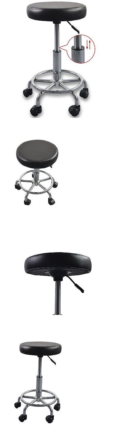 Other Salon and Spa Equipment: Adjustable Tattoo Salon Stool Hydraulic Rolling Chair Facial Massage Spa Black BUY IT NOW ONLY: $33.9