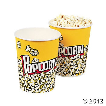 Small popcorn containers from Oriential Trading