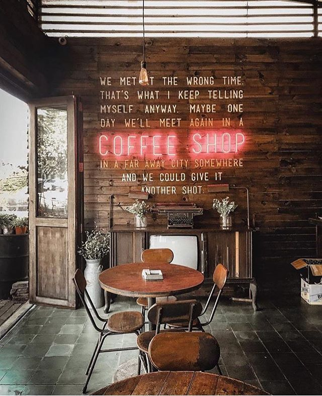 Coffee Shop Quote Vibes Shop Espresso Makers Online Link In Bio By Vanissakaris Coffee Shop Decor Coffee Shop Interior Design Vintage Coffee Shops