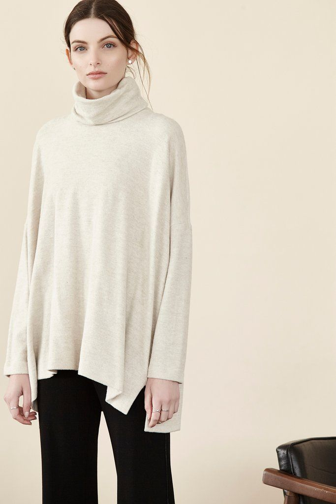 Brushed Terry Tneck L/S Top