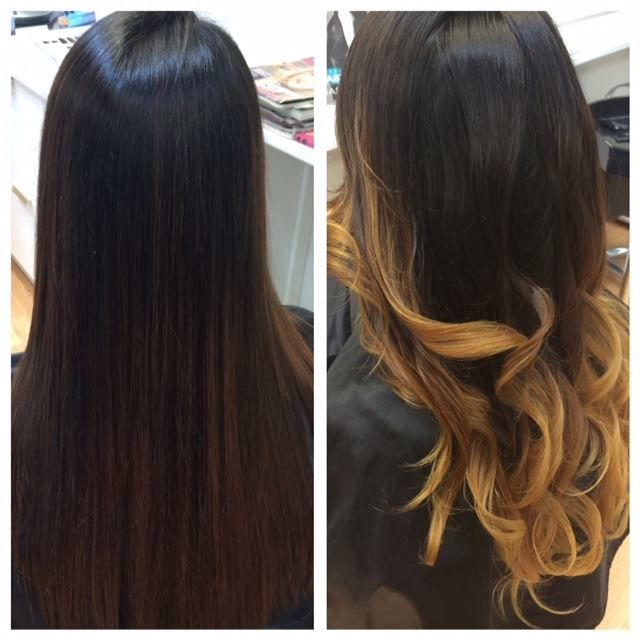 Before and after/ Ombre hair