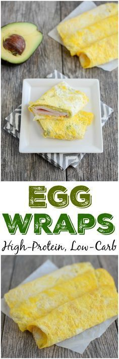 These Easy Egg Wraps are perfect for a low-carb, high-protein snack. Make several ahead of time and fill with things like turkey, avocado, cheese, hummus and more.