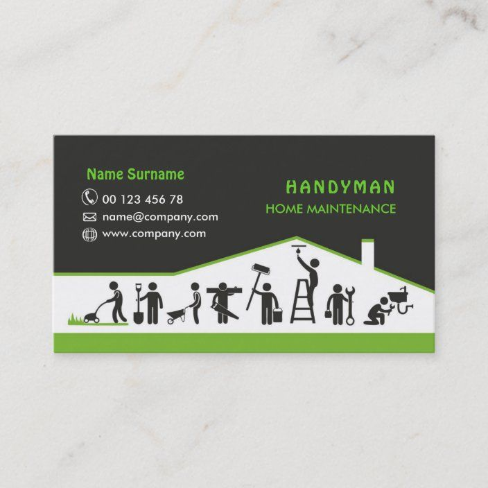 Handyman Services Home Maintenance Business Card Zazzle Com In 2021 Home Maintenance Handyman Services Remodeling Business