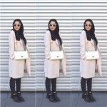 Duster coat hijab fashion