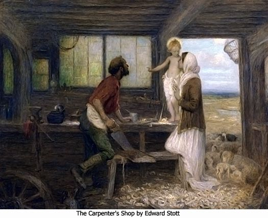 The carpenters shop by edward stott journey to bethlehem for Idea door journey to bethlehem