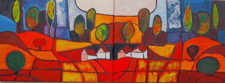 Kom binnen in de Kunstgalerie van Marl.Decoratieve schilderijen: Landschappen 2005-2008