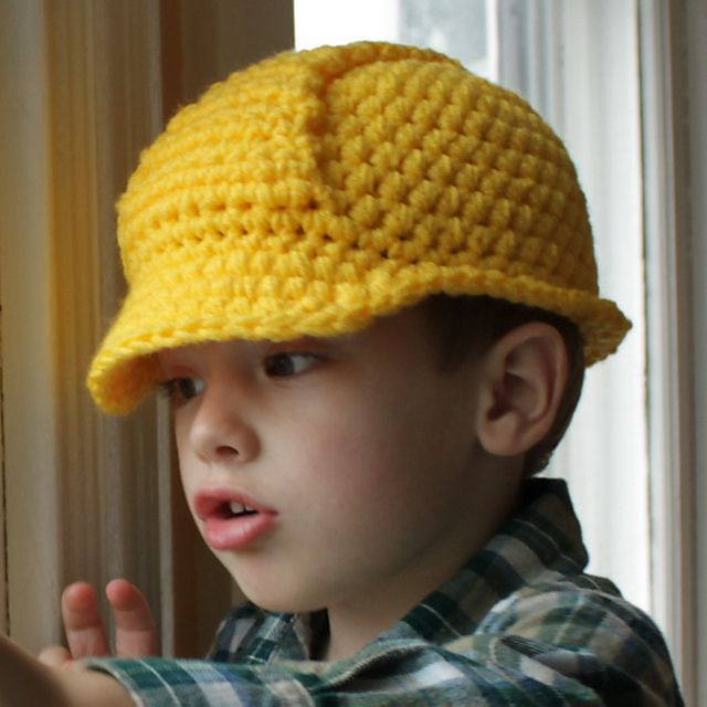 No time to make before party but pretty awesome!   Ravelry: Hard Hat Helmet pattern by Micah York - size newborn to adult, crochet
