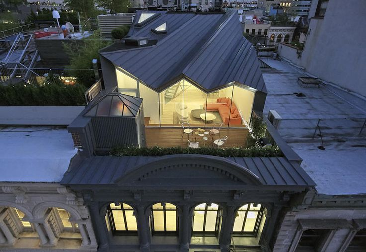 Studio WORKac attic in Tribeca, hidden from every perspective