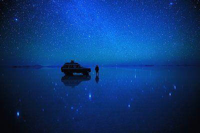 [画像] 絶景の星空写真 ボリビア・ウユニ塩湖「360度の星空世界」