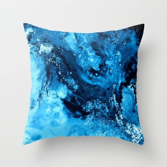 Buy Cool Ice Throw Pillow by Jazzyinked at Society6