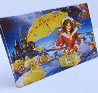 Promotional A5 advent calendar. Printed Desk Top Christmas Advent