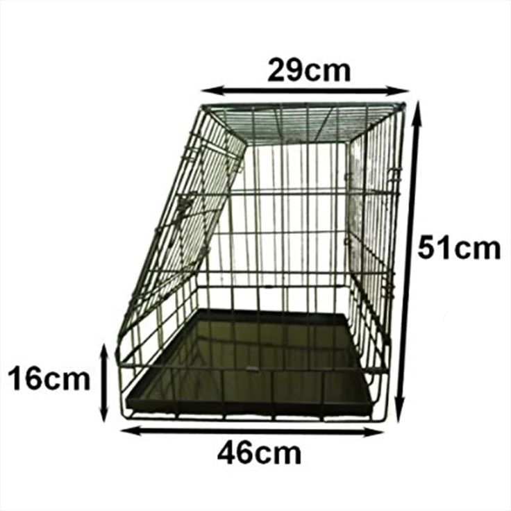The Ellie Bo Deluxe Car Slanted Dog Cage will ensure your dog travels in safety. A slanted dog cage for your car available in two sizes.