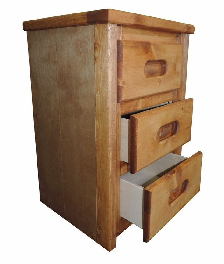 3 Drawer Bedroom Nightstand. Storage bed in action. Captains Bedroom Set in Amber Wash by Rustic Classics on www.GoWFB.ca. Four under-bed storage drawers provide room for clothes, toys and other items. Can include platform twin bed or full bed, dresser, mirror, nightstand, chest, desk & hutch, bookcase and a toybox. #furniture #canada #wholesale #kidsfurniture #bedroomsuite #storagebed