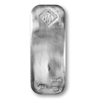 100 ounces of silver in the bar from Johnson Matthey. http://www.gainesvillecoins.com/category/405/silver-rounds-and-bars.aspx