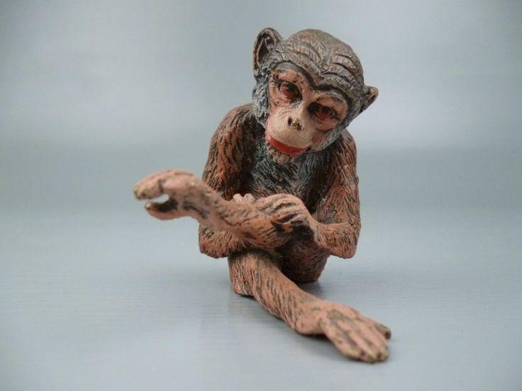 Cold Painted Austrian Bronze Seated Monkey #4 - Affe Wiener Vienna BR