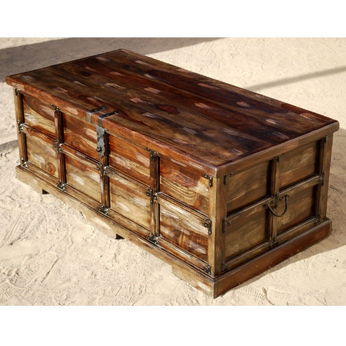 Unique Steamer Style Storage Trunk Coffee Table Chest W Wrought Iron  Hardware In Home U0026 Garden, Furniture, Trunks U0026 Chests