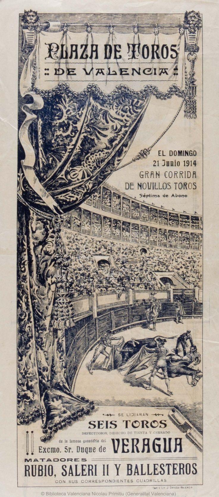 PLAZA DE TOROS DE VALENCIA.1914