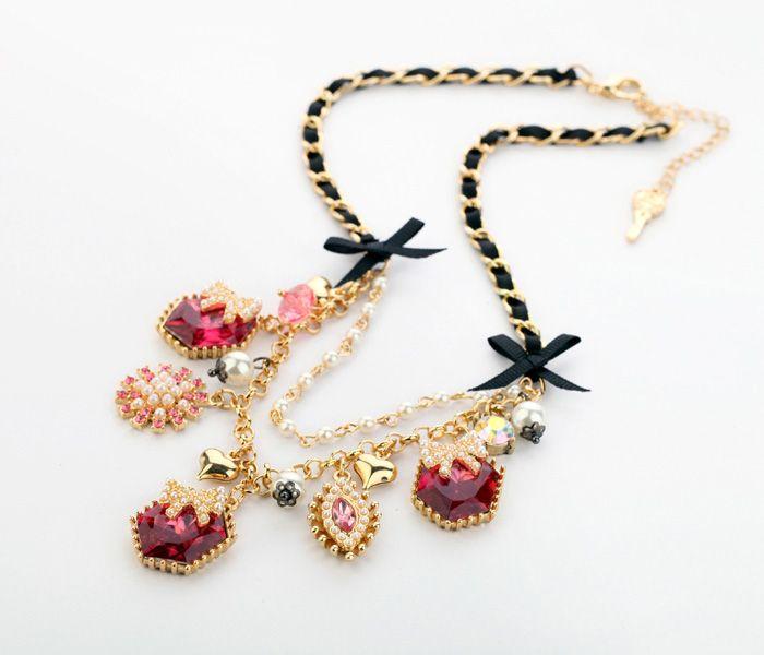 Taobao.nl - De Europese en Amerikaanse mode-sieraden vrouw sieraden industrie fabriek groothandel directe imitatie parel strik ketting Ms