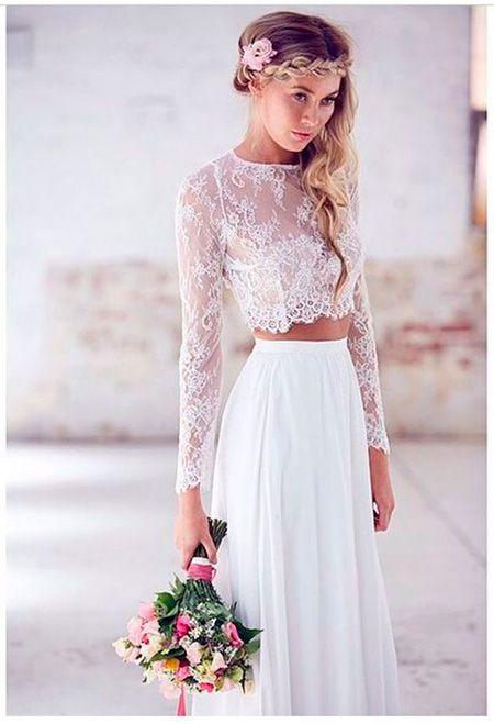 Vestidos de novia 2 piezas. Te atreves? 1