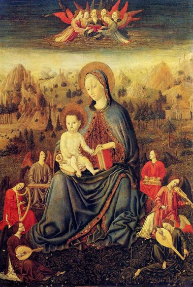 http://museolia.spezianet.it/images/opere/inv_230_big.jpg Benedetto Bembo Madonna of Humility and Musician Angels end of 15th century.